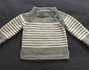 Grey Hand Knitted Jumper Brand New
