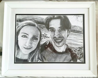 Custom Hand-drawn 2 People Portrait