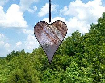 Stained Glass Heart, Pink Suncatcher