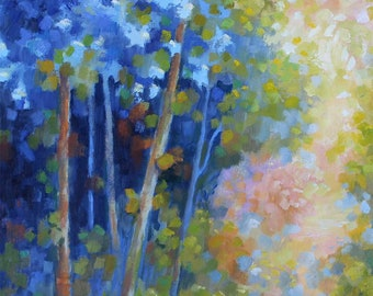Forest Sunlight Oil Painting