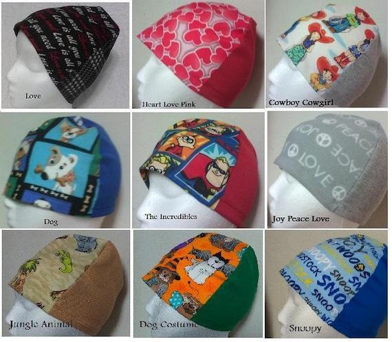 Multi Choice Beanie Cap Hat Scrub Cancer Chemo Head Cover Free