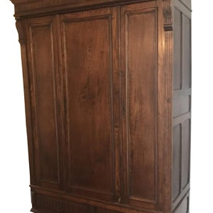 Antique 19th C Carved French Armoire Louis XVI Style French Armoire