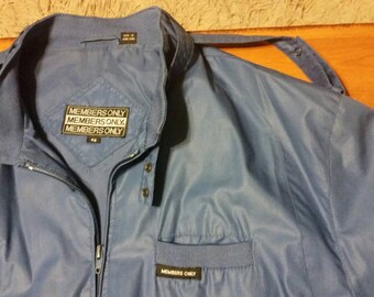 BLUE Members Only cafe racer jacket, Size 46
