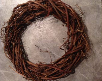 12 Inch Natural Grapevine Wreath, great for craft projects
