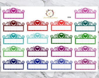 Movie Marquee Stickers, for use with  Erin Condren, Happy Planner