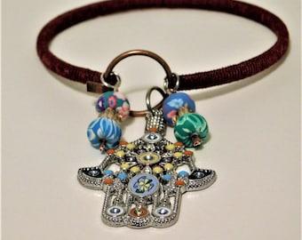 Tribal Hamsa Charm Bracelet!