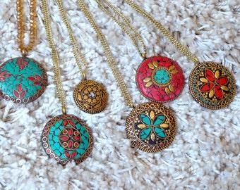 Handmade Tribal Pendant Necklace