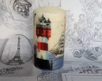 lighthouse candle - nautical candle