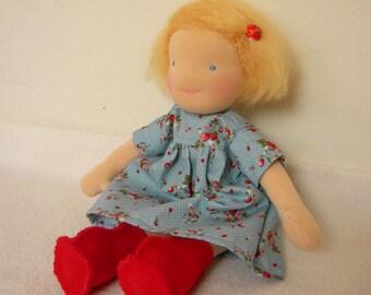 waldorf doll 12 inch girl blonde