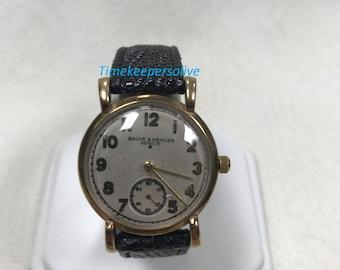 c307 Vintage Collection Swiss Baume Mercier Geneve 9K Yellow Gold Watch