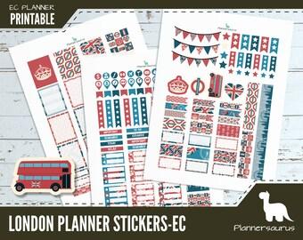 London printable planner stickers | instant download planner | EC planner printables | British weekly planner UK | Union jack sticker pack