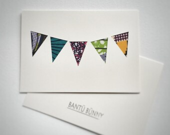 Greetings Cards Handmade, Handmade Birthday Card, African Print Fabric