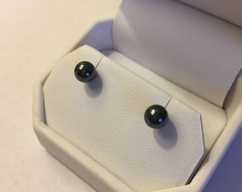 Hematite studded earrings