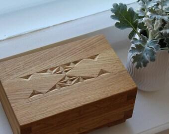Storage Box Oak Solid Wood