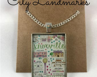 Knoxville Resin Art necklace FREE SHIPPING