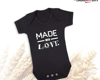 Made with Love - Baby Bodysuit Cute Baby Gift
