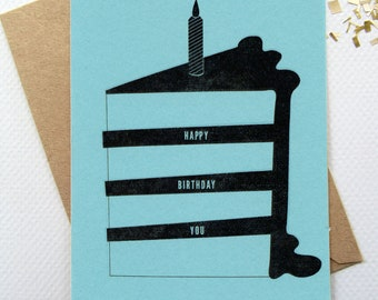Happy Birthday Cake Card-Digital Download