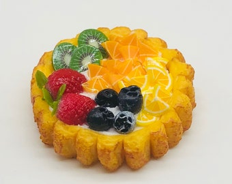 Miniature Fruit Pie,Miniature Sweet for Dollhouse