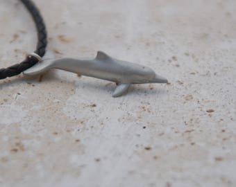 Pewter Dolphin Necklace