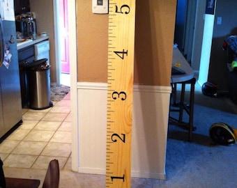 Ruler Growth Chart Vinyl Wall Decal Nursery Bedroom Decor