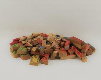 Vintage Village Wood Blocks, 120 Pieces
