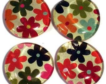Funky Magnets Glass Refrigerator Magnets in  Joy (M21)