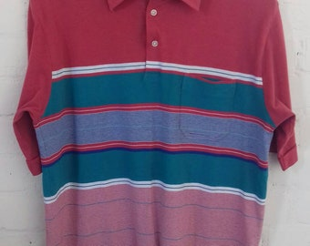 Mens vintage polo neck shirt - Large