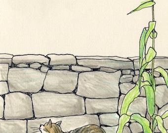Cat original drawing - P009July2016