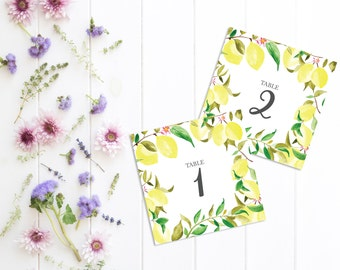 Printable Table Numbers - Wedding Table Numbers - Rustic wedding table numbers - Table Names - Rustic Wedding Table - Lemons wedding