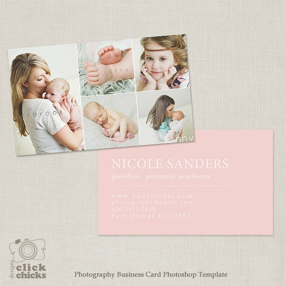 Photography business card template for photographers 002 reheart Image collections