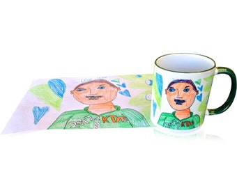 300ml Ceramic Mug - personalised with ykhr childs Artwork, or request a custom print with your own design - dishwasher safe