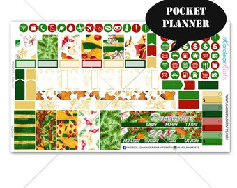 Christmas Planner Stickers MONTHLY Planner Kit, Pocket Planner Sticker, Sew Much Crafting, Monthly Kit, New Years #SQ00030-Pocket