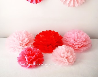 SALE - 5 Centerpieces - Custom Colors - for Baby Shower / Baptism / Birthday / Wedding Party Decoration - Fast Shipping