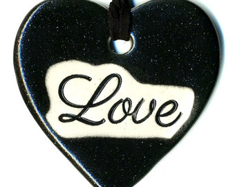 Love a Ceramic Necklace in Sparkly Black