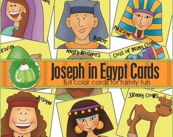 JOSEPH in EGYPT Match Card Game - Downloadable PDF Only