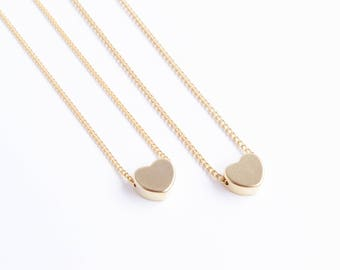 Dainty Heart Necklace | Dainty Silver Heart Necklace | Dainty Gold Necklace | Delicate Necklace | Gift For Mom | Bridesmaid Gift