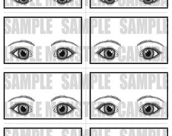 Bling Display Sheet - Large Eyes