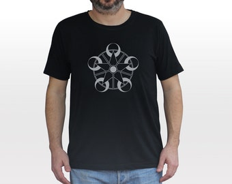 Mystic Crop Circle T-shirt |  reflective