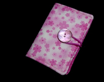 Business Card Holder in Pink Flowers