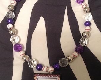 Personalized Sports Pendant on Team Spirit Beads
