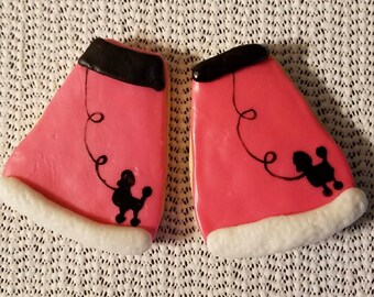 Poodle Skirt Cookies