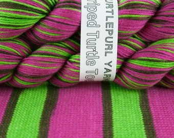Pow! - Hand-dyed Self-striping sock yarn