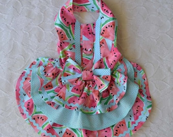 Little Dog Watermelons Harness Dress Small