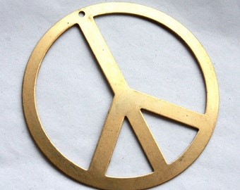 2 Large Vintage 1970s Peace Sign Pendants // Almost Famous / Penny Lane