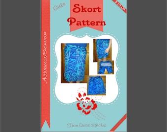Girls Activewear Skort Sewing Pattern