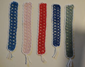 "Bookmark ""Pizzo"" perfumed in cotton yarn made of crochet with fork"