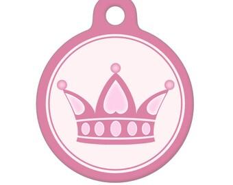 Pet ID Tag - Princess Crown Pet Tag, Dog Tag, Cat Tag