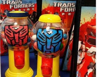 Transformer Gumball Machine Favors, Personalized Gumball Dispensers, Custom Candy Party Favors