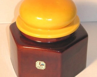 """Vintage 70s ceramic can by """"GALLO"""""""