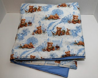 Teddy Bears, Books, & Toys baby quilt
